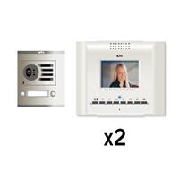 Kit video digital Coaxial Color E-Compact blanco S1 2 líneas