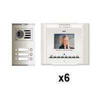 Kit video digital Coaxial Color E-Compact blanco S2 6 líneas