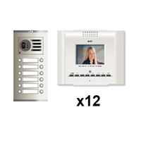 Kit video digital Coaxial Color E-Compact blanco S3 12 líneas
