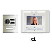 Kit Video Digital 6H Color E-COMPACT Blanco S1 1 línea.