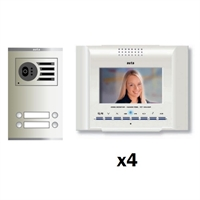 Kit vídeo digital 6H Color E-Compact blanc S2 4 línies