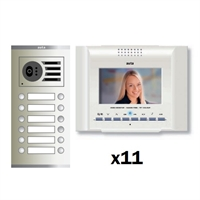Kit video dig.Visualtech 5H Color E-Compact blanc S3 11 línies