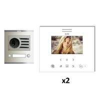 Kit video digital Visualtech 5H color SLIM blanc S1 2 linies