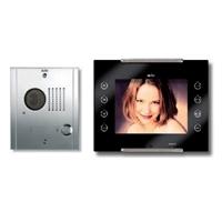 Kit videoportero digital Avant negro 6H 1 línea, placa inox