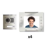 Kit KVD-1 Intercom 4 AVANT Coaxial Blanc S/AP
