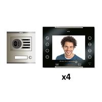 Kit Vídeo Digital 6H Intercom 4 AVANT No Coaxial Negre S/AP