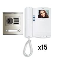 Kit KVD-1 Intercom 15 Monitores Compact No Coaxial S/AP