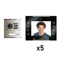 Kit Vídeo Digital 6H Intercom 5 AVANT No Coaxial Negre S/AP
