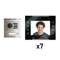 Kit Vídeo Digital 6H Intercom 7 AVANT No Coaxial Negre S/AP