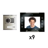 Kit Video Digital 6H intercom 9 AVANT No coaxial Negro S/AP