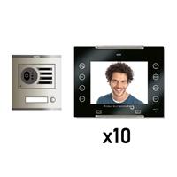 Kit Video Digital 6H intercom 10 AVANT No coaxial Negro S/AP