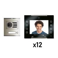 Kit Vídeo Digital 6H Intercom 12 AVANT No Coaxial Negre S/AP