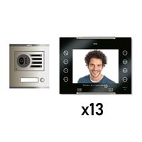 Kit Vídeo Digital 6H Intercom 13 AVANT No Coaxial Negre S/AP