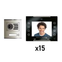Kit Vídeo Digital 6H Intercom 15 AVANT No Coaxial Negre S/AP