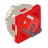 Base enchufe francés 16A+T con obturador rojo - Ítem1