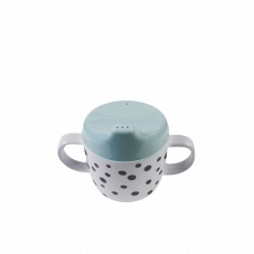 2-handle spout cup, Happy dots, blue