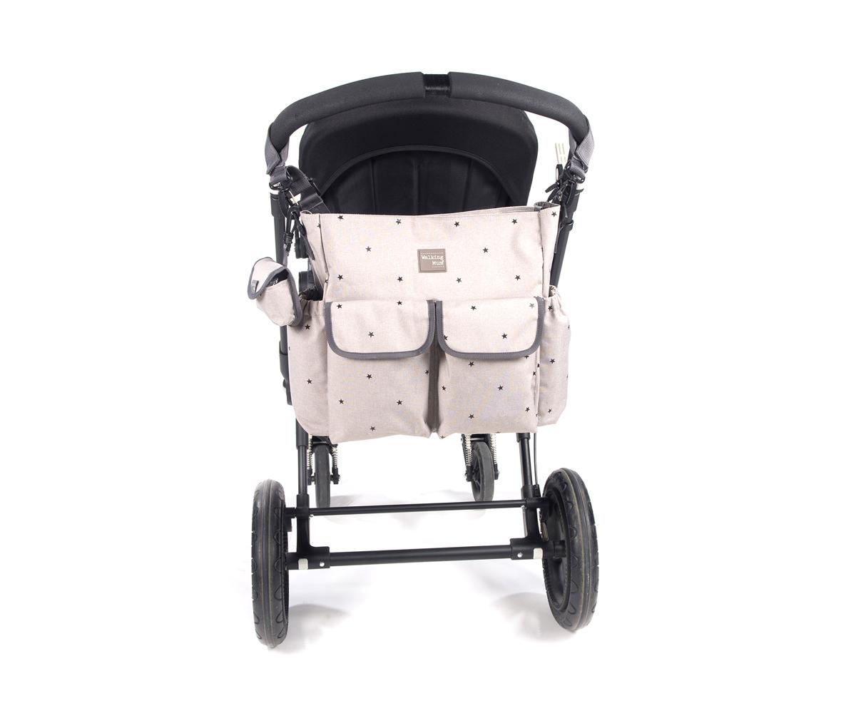 Bolso silla de paseo Gaby piedra - Ítem1