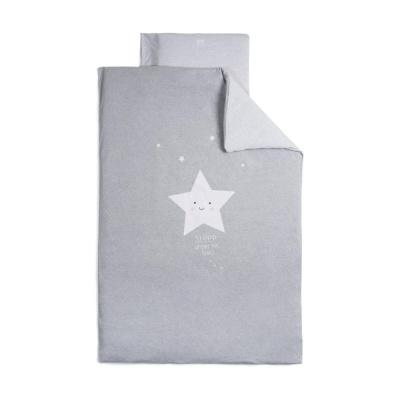 Funda nórdica 110x160 cm + funda de almohada 60x40 Star Gris