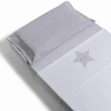 Sábanas de cuna 60/70 3piezas Estrella gris