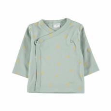 Camiseta cruzada aqua topo yellow