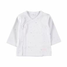 Camiseta cruzada estrellas rosas