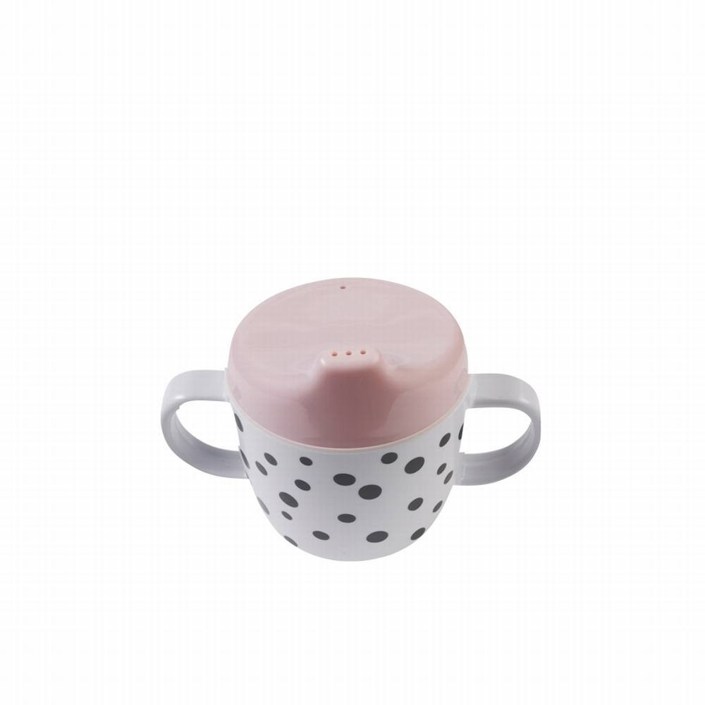 2-handle spout cup, Happy dots, powder