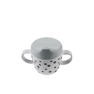 Spout cup happy dots grey