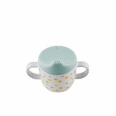 Spout cup, Happy dots, gold/blue