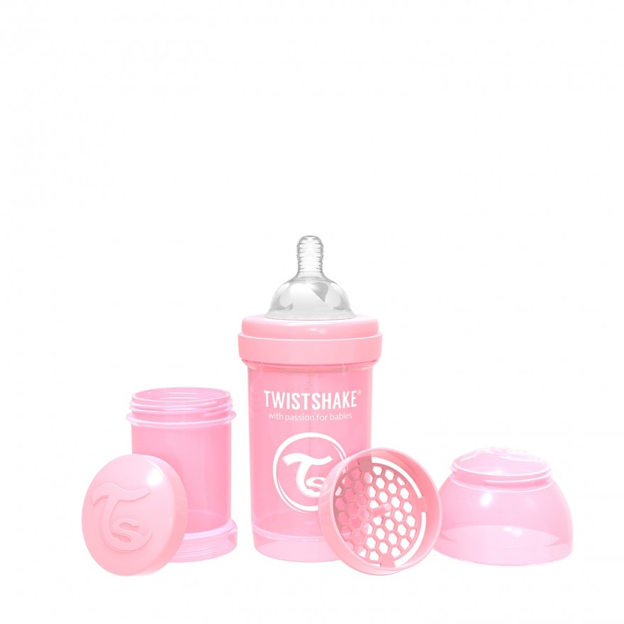 Biberon Twistshake 180ml rosa