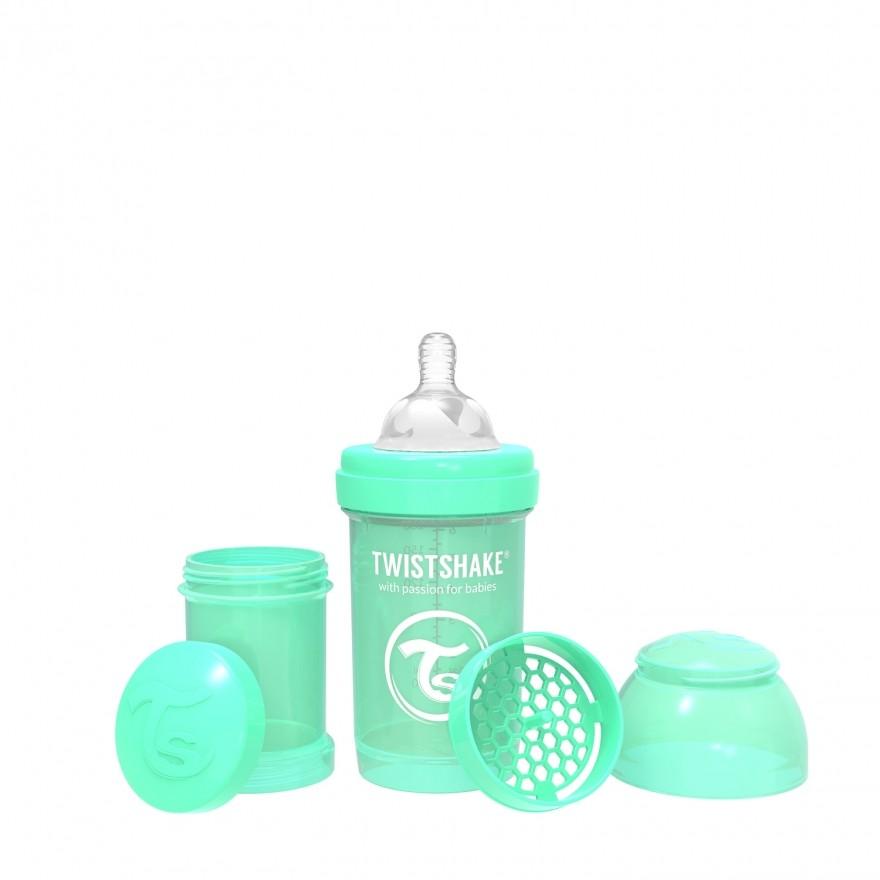 Biberon 180ml Twistshake verde pastel