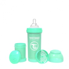 Biberon 260cc Twistshake verde pastel
