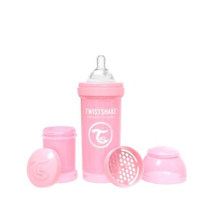 Biberon 260cc Twistshake rosa pastel
