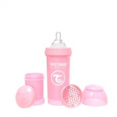 Biberon 260ml Twistshake rosa pastel
