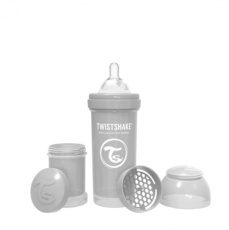 Biberon 260ml Twistshake gris