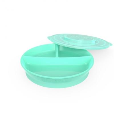 plato compartimentos+tapa verde