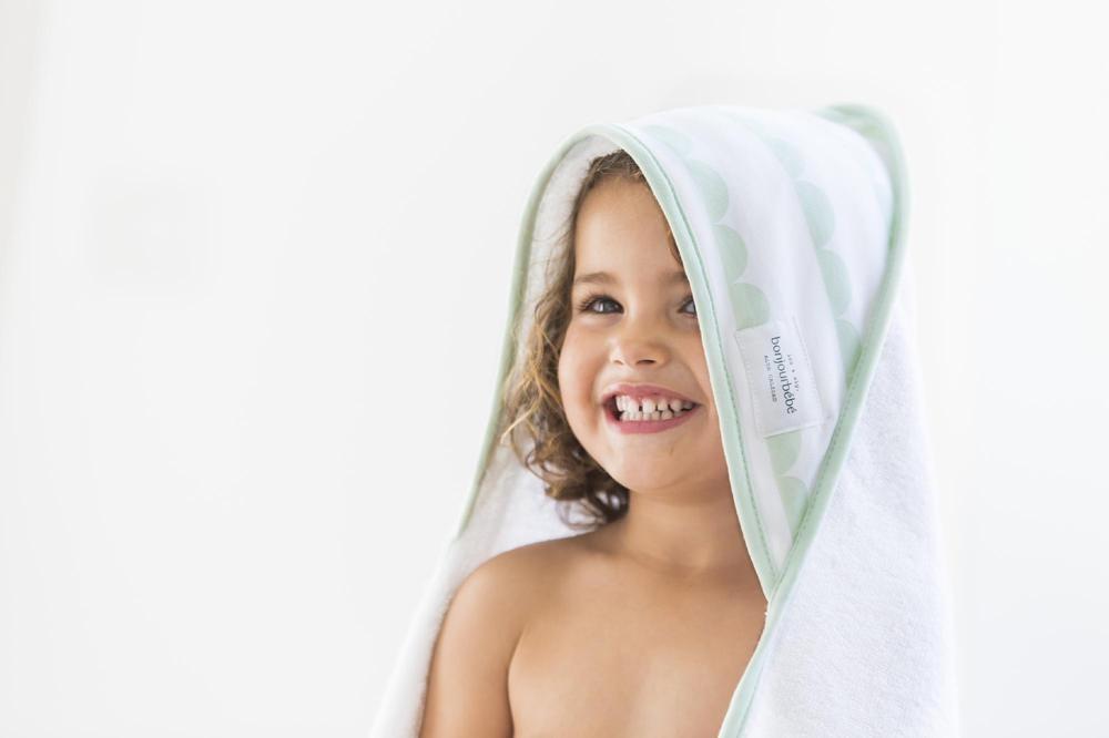 Capa de baño XL 100 Blanca Nube Menta - Ítem1