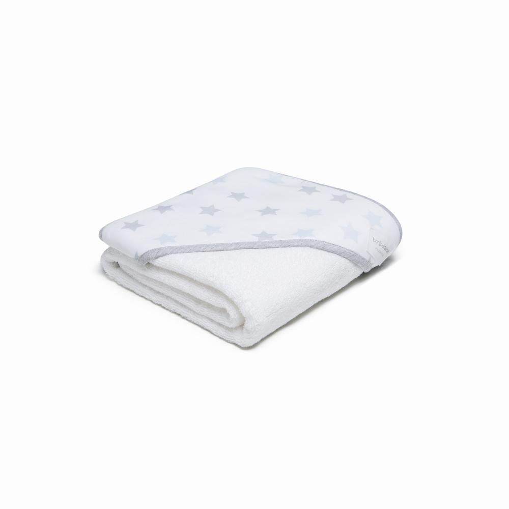 Capa de baño XL 100 Blanca Estrellas Gris Menta