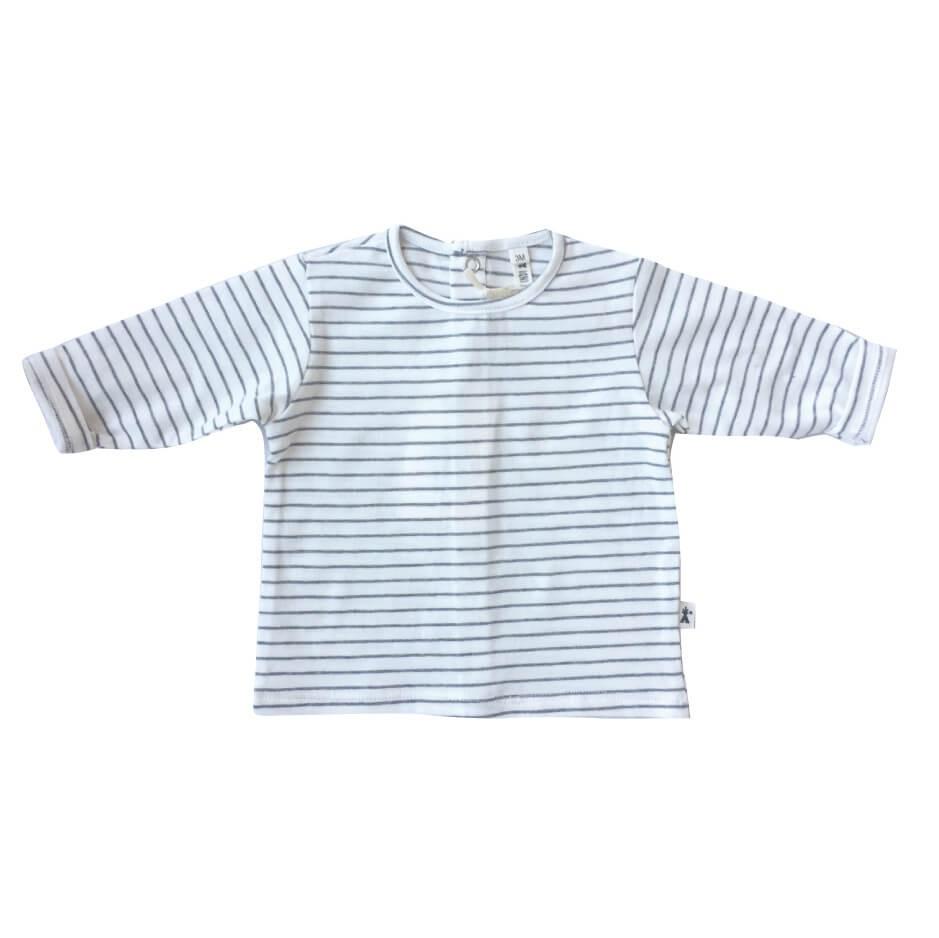 Camiseta ml beige rayas gris