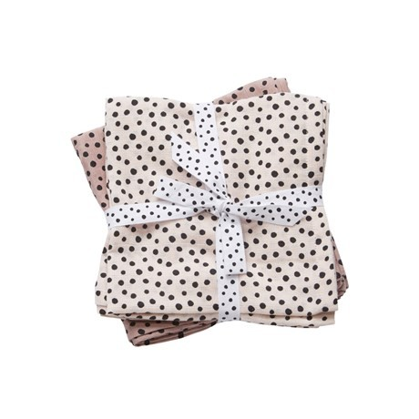 Burp cloth, 2-pack, happy dots powder