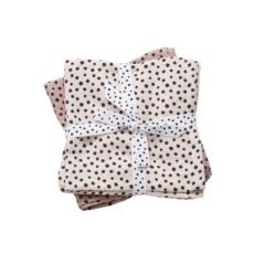 Burp cloth, 2-pack, happy dots powder