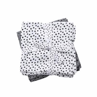 Burp cloth, 2-pack, Happy dots, grey