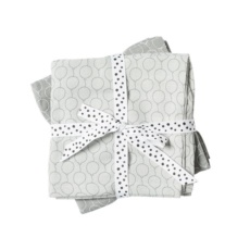 Burp cloth, 2-pack, ballon grey