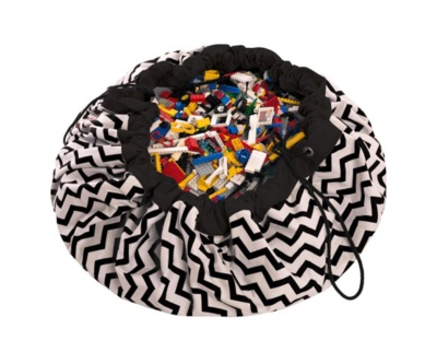 Manta de juegos play and go zig zag black