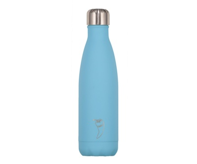 Botella termo liquidos azul pastel 500cc
