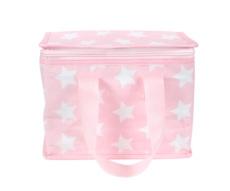 Bolsa térmica merienda estrellas rosa