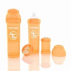Twistshake Biberón Anticólico 330ml Naranja