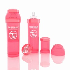 Biberon Twistshake 330ml Coral