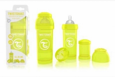 Biberón Twistshake 260ml Amarillo