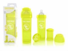 Twistshake Biberón Anticólico 330ml Amarillo