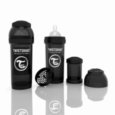 Biberón Twistshake 260ml Negro